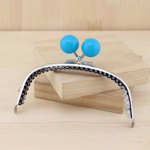 Silver Metal Frame Kiss Clasp For Purse Handle Bag Stripes Bead head 12.5CM//4.92