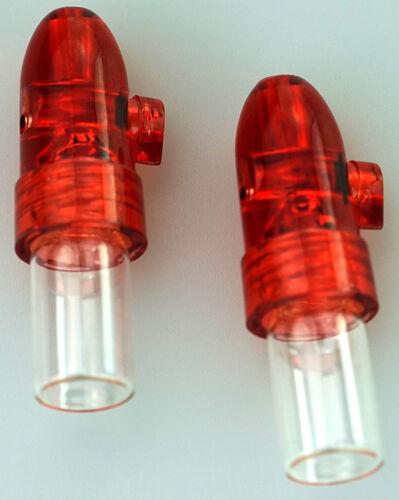 5 x Ersatz Gläschen ROT Typ 2,5G 2 x Dosierer Sniffer Spender Snuff Bottle