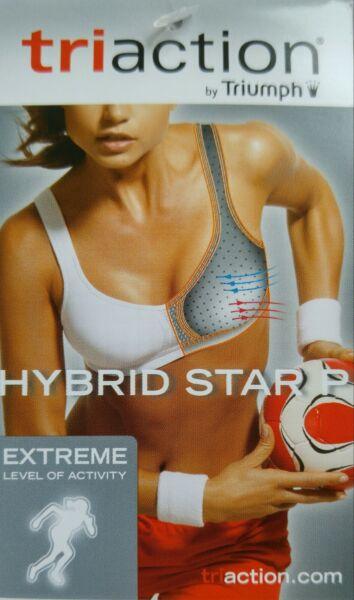 Triumph Triaction Hybrid Star P Extreme Level Non-Wired Bra 70C 75B 75C 80B NEW