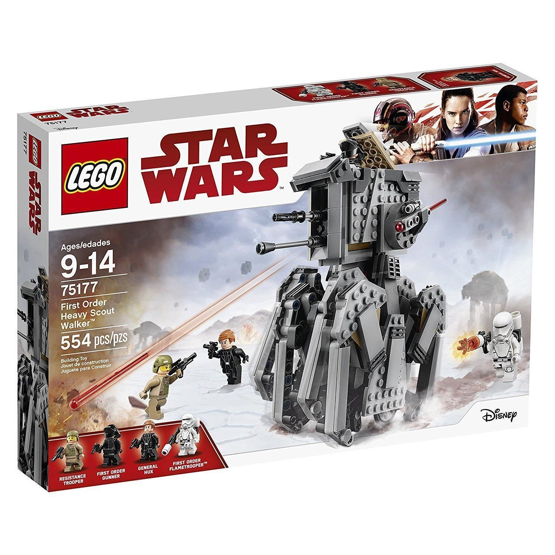LEGO 75177 estrella  guerras LAST JEDI FIRST ORDER HEAVY SCOUT WALKER  Ritorno di 10 giorni