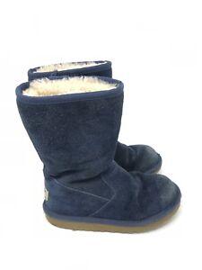 fd183d18b54 Ugg Australia Boots Size 13 Girls Navy Blue Lil Sunshine Suede Style ...