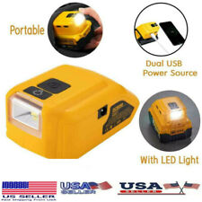 Battery Adapter With Led For Dcb090 Dcb091 For Dewalt Dual Usb Power Source Us