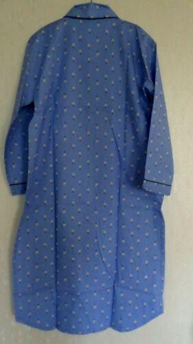 Hommes Chemise de nuit tissés long bras poitrine sac coton bleu Taille 54 nouveau neuf dans sa boîte//Y