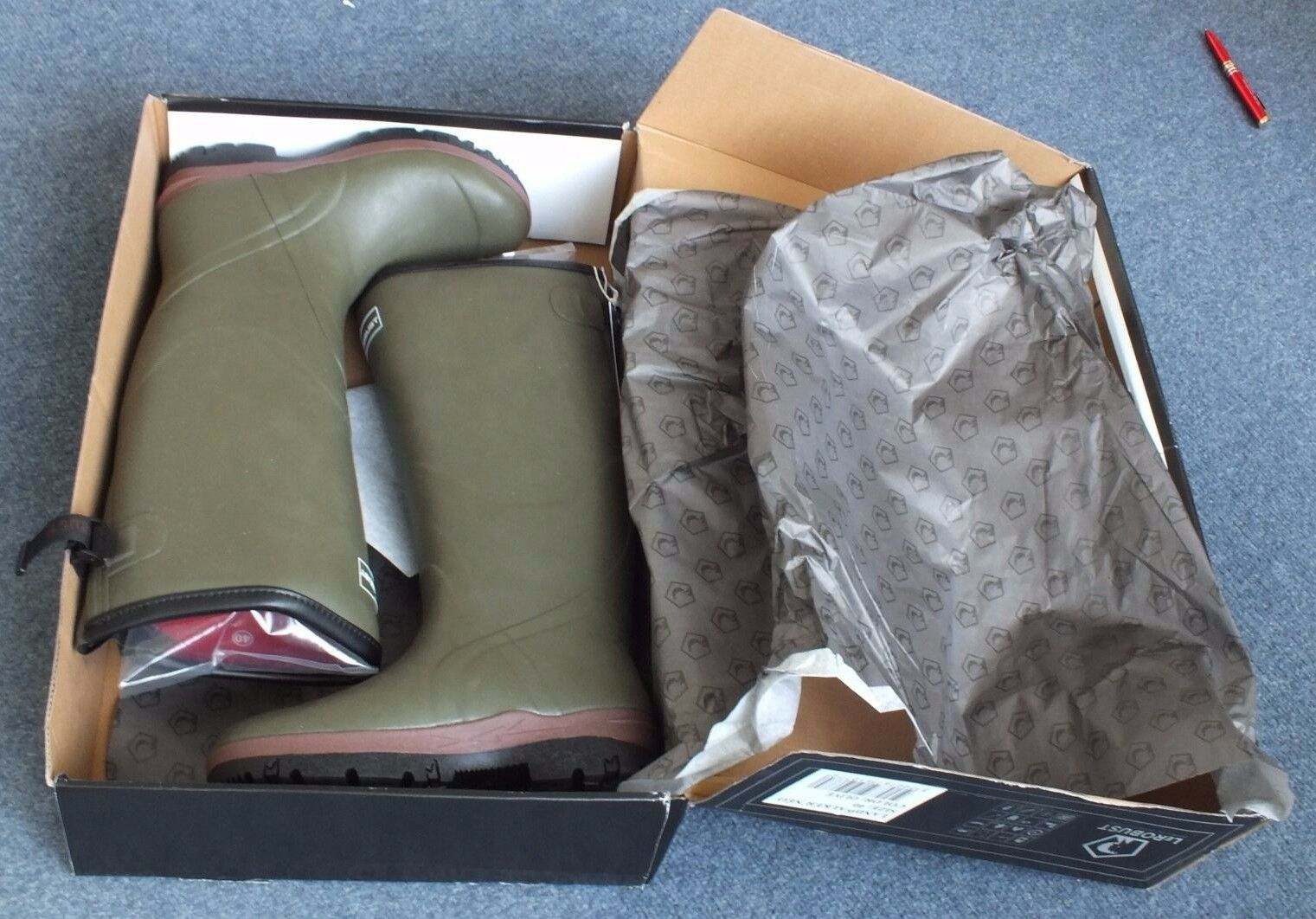 Neoprene 3mm NEO 4 Olive Wellington Boots - Size 11.5 UK (FR 46)