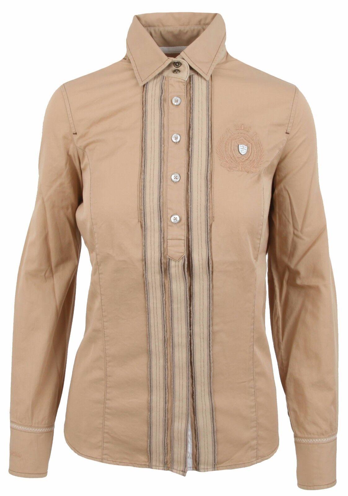L' SilberINA Damen Blause damen Shirt Größe 38 M 100% Baumwolle Cotton Braun NEU