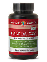 Candida Capsules - Candida Away Detox Pills Body Cleanse (1 Bottle, 60 Capsules)