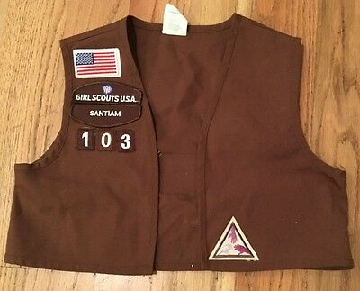 SMALL BROWNIE GIRL SCOUT VEST