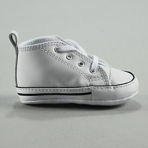 617ac40426c86d Image is loading Converse-Chuck-Taylor-First-star-Infant-Leather-Trainers-