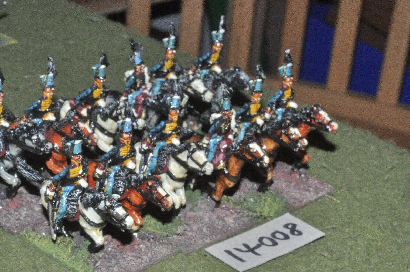 25mm napoleonic   french - hussars 12 painted by mac warren - cav (14008)