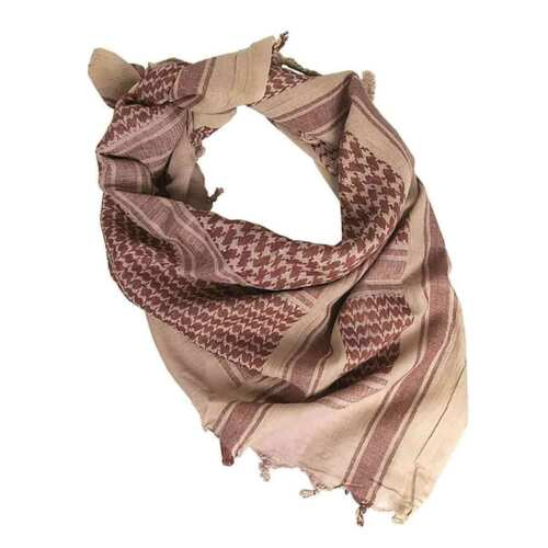 Brown Shemagh Military Army Tactical Arab Neck Scarf Scrim Headscarf Coyote