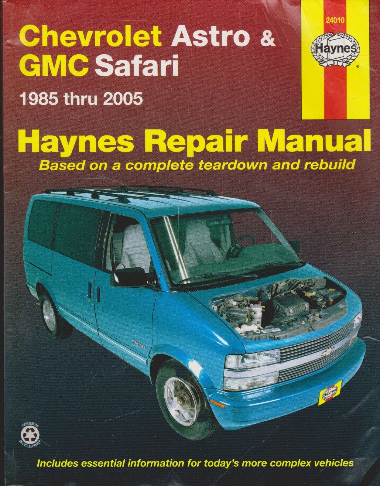 Haynes Repair Manual: Chevrolet Astro and GMC Safari - 1985 Thru 2005 by  Max Haynes, John H. Haynes and Ken Freund (2007, Paperback) | eBay