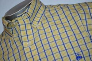 12428-a-Mens-Brooks-Brothers-Dress-Shirt-Size-Large-Non-Iron-Yellow-Plaids