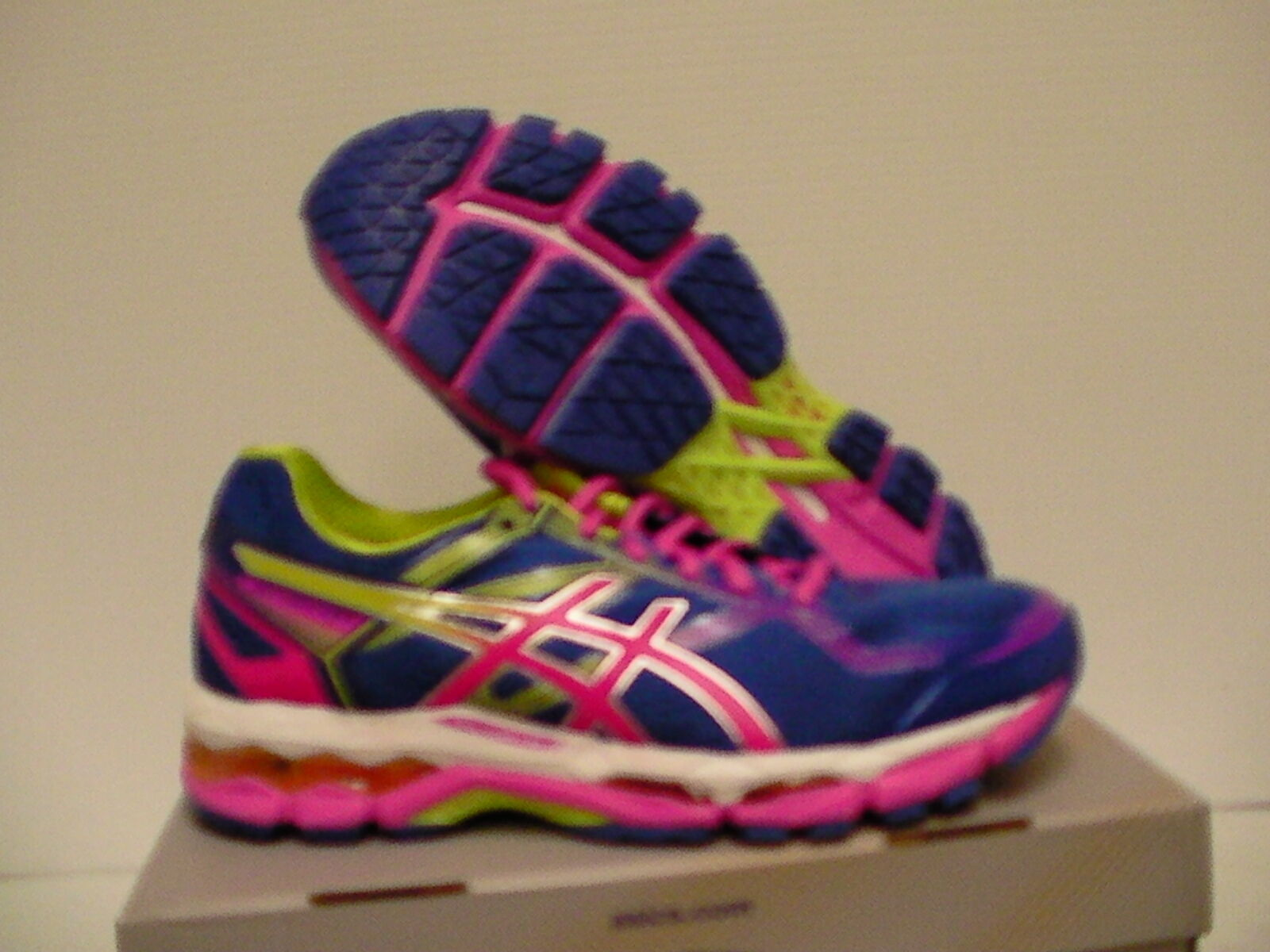 Asics women's running shoes gel surveyor 5 bluee pink lime size 10