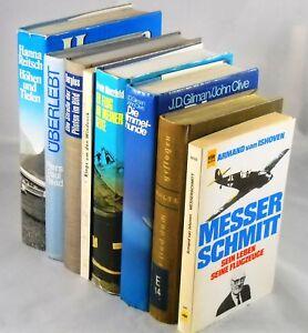 Buecherpaket-8x-Flugzeuge-Fliegen-Piloten-im-Krieg-Biografien-Sammlung