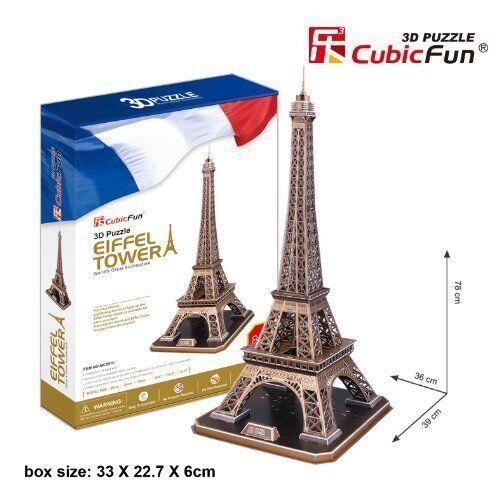 CUBICFUN 3D PUZZLE TORRE EIFFEL PARIGI 82 PEZZI  IDEA REGALO NATALE