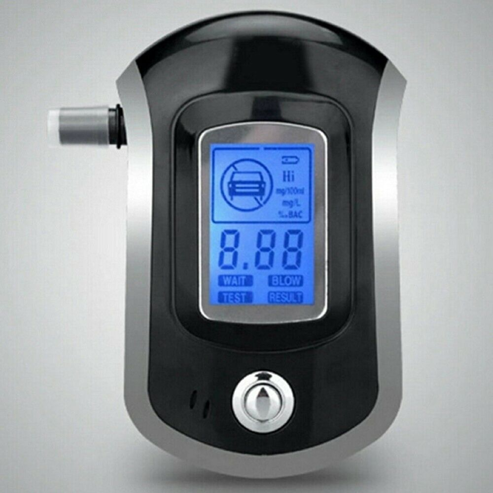 DI- Digital LCD Display Breath Alcohol Tester Breathalyser with Mouthpieces HSG