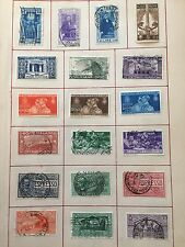 1 Page Beautiful Vintage Stamps Italian Italy Poste Postage! Mixed Lot! Europe
