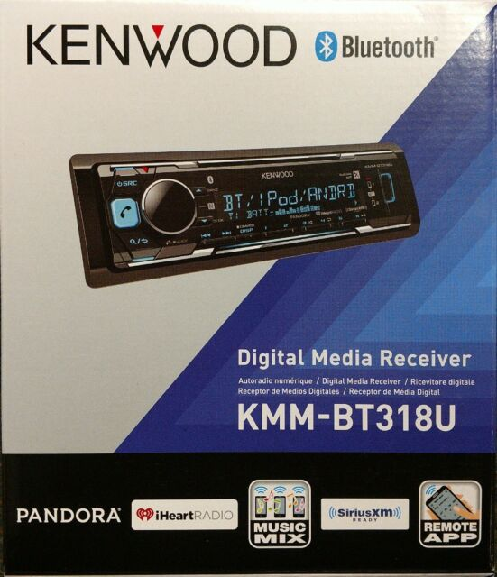 Kenwood KMM-BT318U Digital Media Receiver AUX/USB/BT/SiriusXM