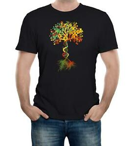 Tree-of-Life-Men-039-s-T-Shirt-DNA-Genetic-Code-Biology-Earth-Nature-Science