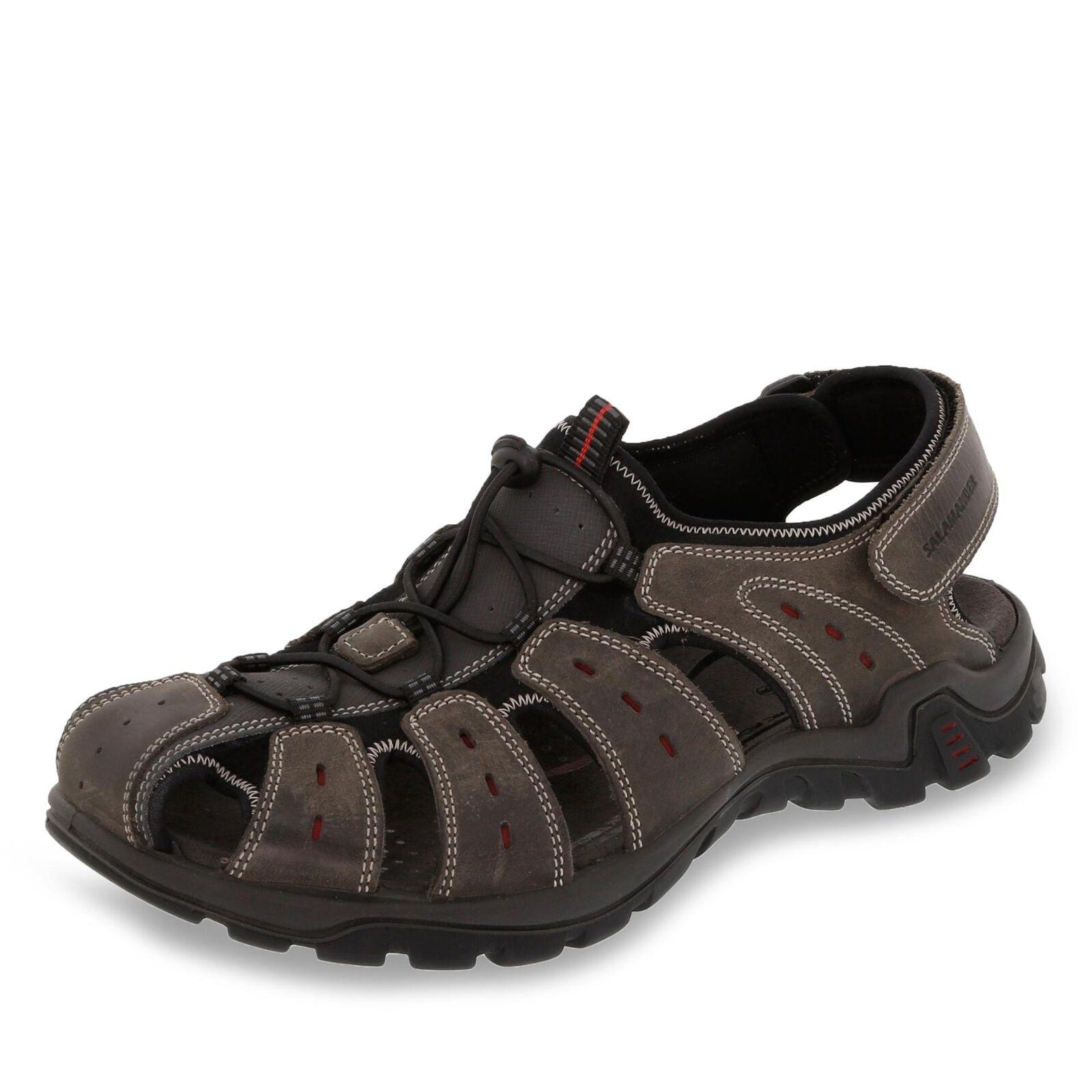 Salamander Dino Herren Sandale Trekkingsandalen Wanderschuhe Schuhe Leder grau