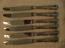 6 couteaux à dessert métal argenté LXV rocaille Frionnet (dessert knives)