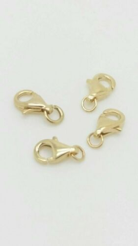 Necklace Clasp Lobster Claw 14K Yellow Gold Lobster Clasps with Jump Ring