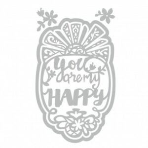 Sizzix Thinlits Die Set 4PK You Are My Happy by Katelyn Lizardi 661944 Phrase