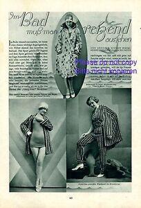 Fougueux Tenue 20er Rapport Annuel 1930 Patek Zimmerauer Herzmansky Vienne Mode Maillot De Bain-afficher Le Titre D'origine Vente Chaude 50-70% De RéDuction