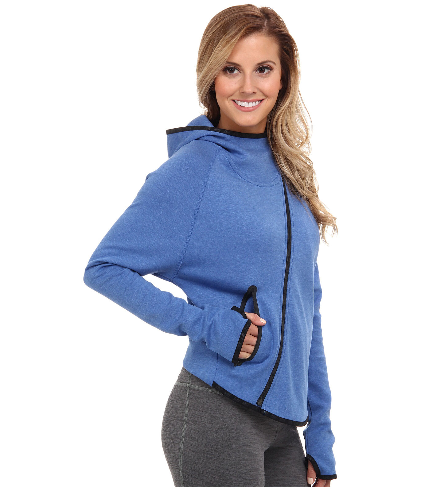 fa60a816b00f Nike Tech Fleece Butterfly Hoodie Full-zip Womens Jacket Blue 617358 ...