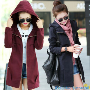 New-WOMENS-SPRING-TRENCH-COAT-LADIES-ZIP-HOODED-PARKA-JACKET-OUTWEAR-PLUS-SIZE