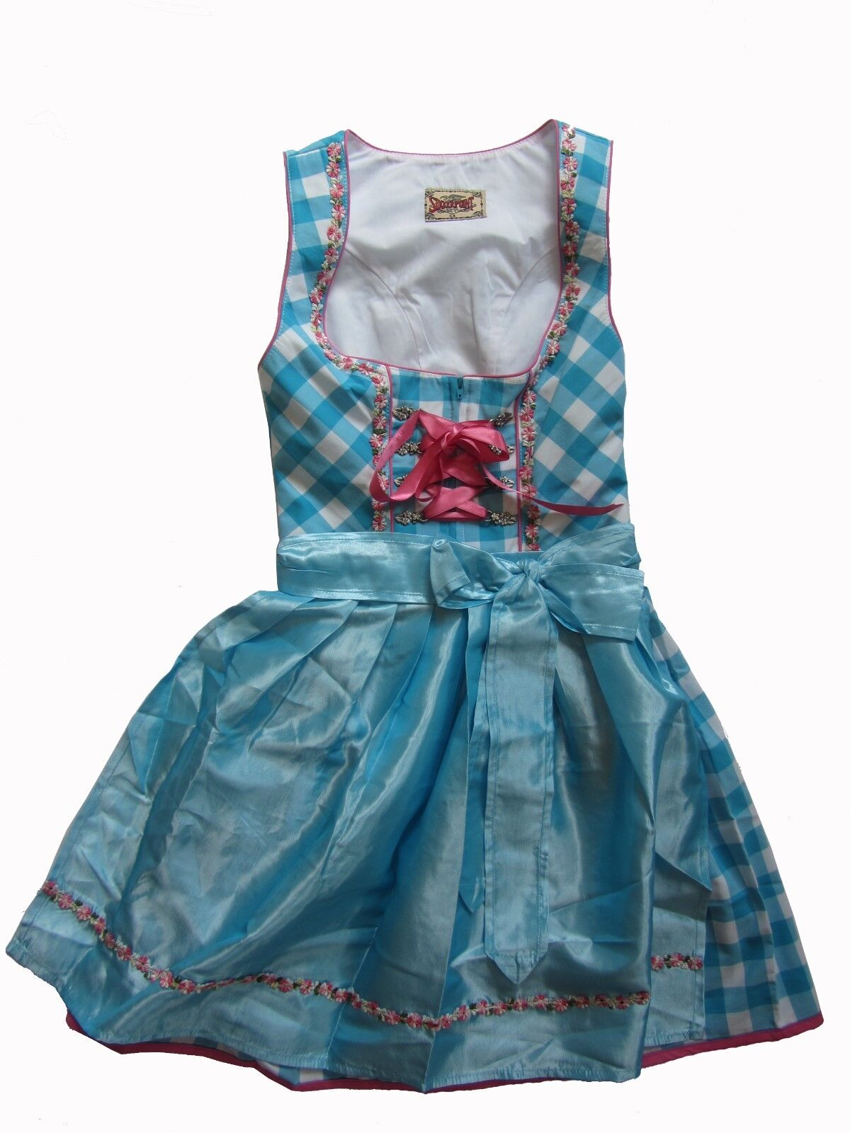 Stockerpoint du Joy turquoise 32 34 36 38 costume traditionnel wiesn Court Mini Bleu Clair voiturereaux
