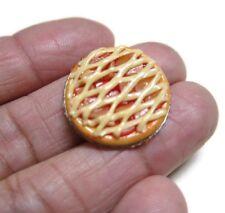 Pumpkin Spider Pie On Tin Pans Dollhouse Miniatures Food Bakery Holiday Season