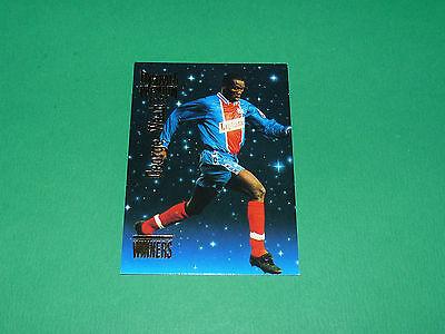 G. WEAH WINNERS FOOTBALL CARD PREMIUM 1994-1995 PARIS SAINT-GERMAIN PSG PANINI