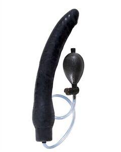 Inflatable plug toy dildo