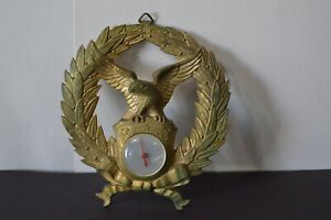 Vintage Federal Eagle Brass Hanging Wall Clock For Parts of Repair Home Decor