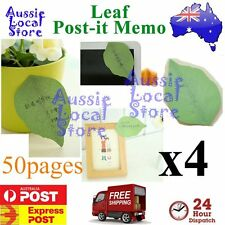 200 Sticky Notes POST-IT Memo Pad Exquisite Leaf it Leaves Note Message leaves