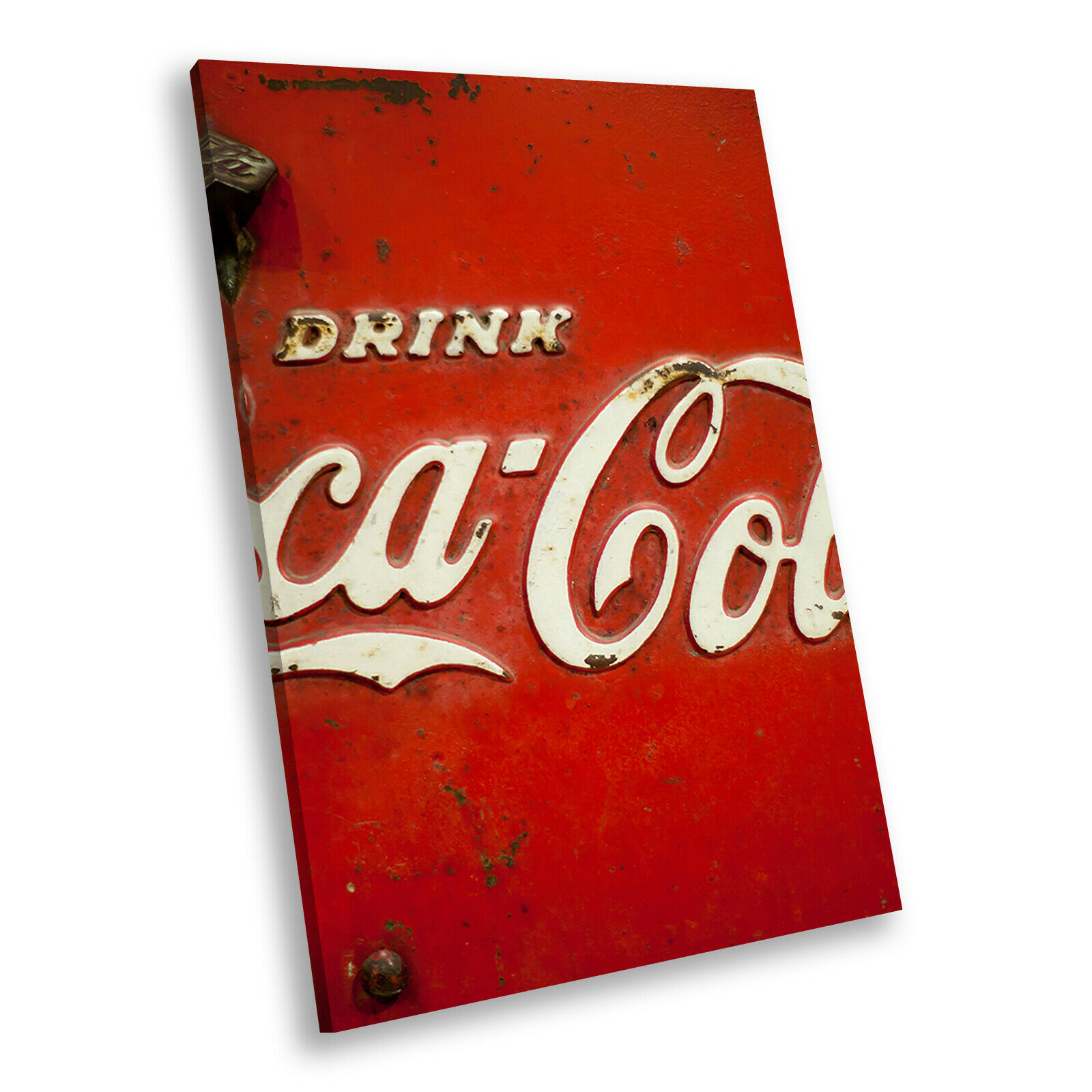 Retro Coca Cola Cool Portrait Abstract Canvas Wall Art Large Picture Prints