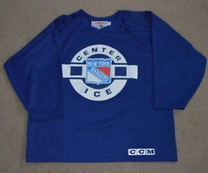 Image is loading Vtg-New-York-Rangers-CCM-Practice-Jersey-Large- a493f39b8