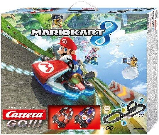 Carrera Go - Circuit Mario Kart 8 Mario et Toad - Véhicule Miniature Et Circuit