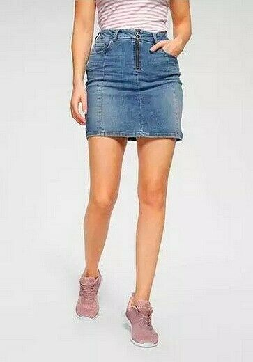 LTB LADIES JEANS SKIRT lemia x Skirt Stretch Denim Mini Skirt Mid Blue Used A-Line