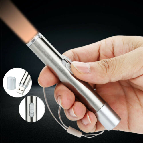 Mini Protable USB Rechargeable Flashlight Waterproof Torch Light Super Bright