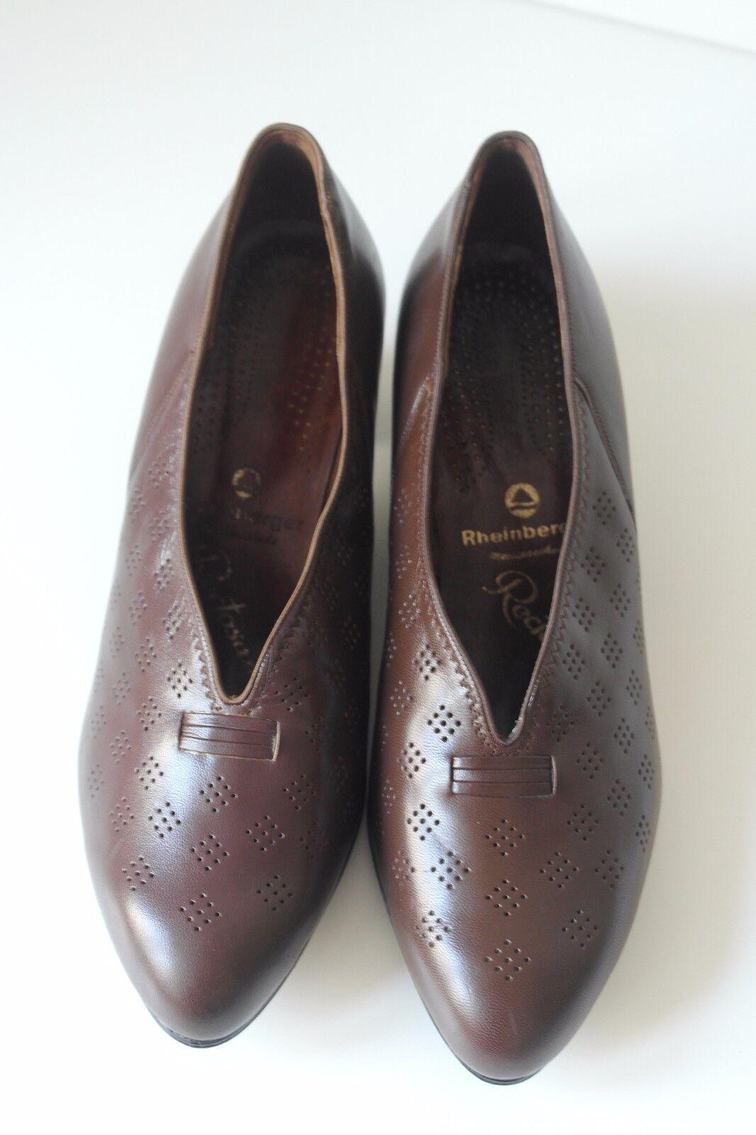 NOS Rheinberger Meisterschuhe Damen Pumps Schuhe TRUE VINTAGE UK Erany UK VINTAGE 5,5 braun e8ead5