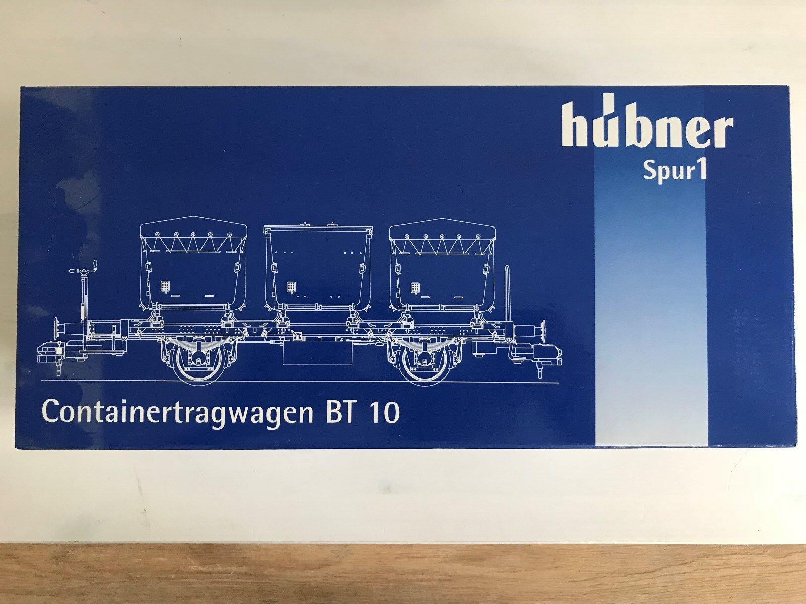 Hübner 2223-5-4-4 Spur 1 Güterwagen Containerwagen BT 10 Neu für Märklin