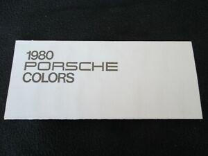 1980-Porsche-911-SC-928-911SC-COLORS-Paint-Chart-Brochure-Samples-Sheet-Catalog