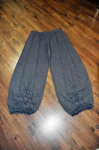 Ballonhose Einraffungen grau-Jerseystrick 110 lang XXL,XXXL Lagenlook BIG