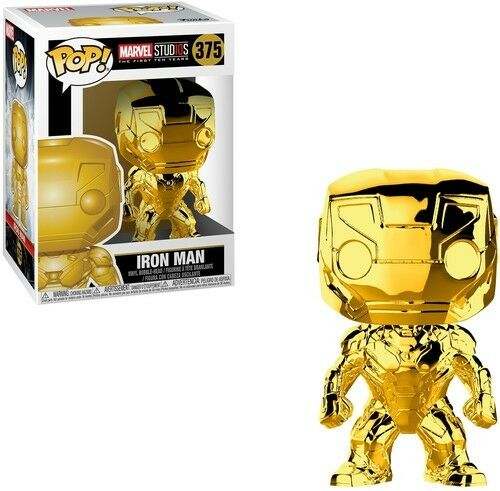 Marvel Studio's 10th Anniversary - Iron Man(Chrome) - Funko Pop (2018, Toy NEUF)