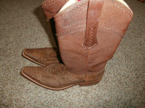 Python Cowboy Western Boots handmade Cuadra Boots