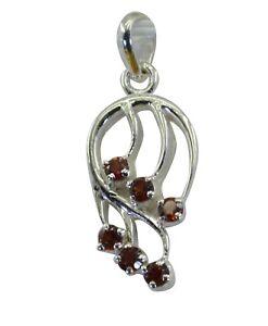 attraktives-Granat-925-Sterling-Silber-rot-Anhaenger-echter-Schmuck-de-Geschenk