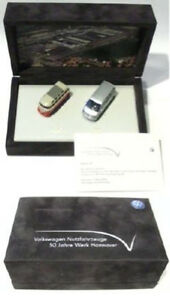 VW-Bus-T1-T5-Set-1-87-50-Jahre-Samtbox-limitiert-mit-Zertifikat-NEU