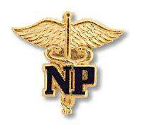 Nurse Practitioner Lapel Pin Blue Np Caduceus Medical Emblem Gold Platd 2021